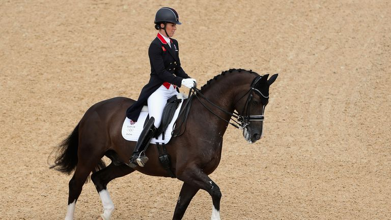 Charlotte dujardin with top score in opening dressage for Charlotte dujardin