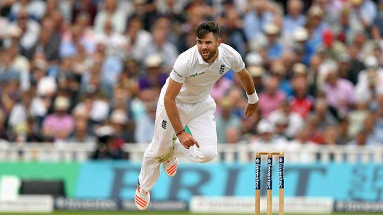 James Anderson has not bowled since England's Test series against Pakistan