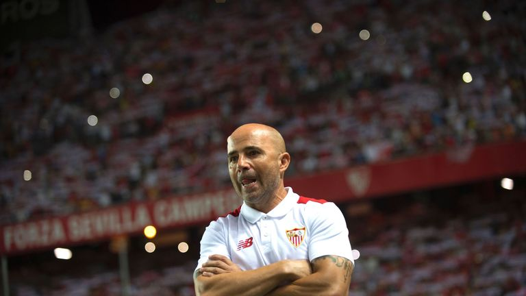 Jorge Sampaoli has taken over from Unai Emery at Sevilla