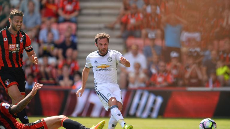 Mata slotted home in the first half
