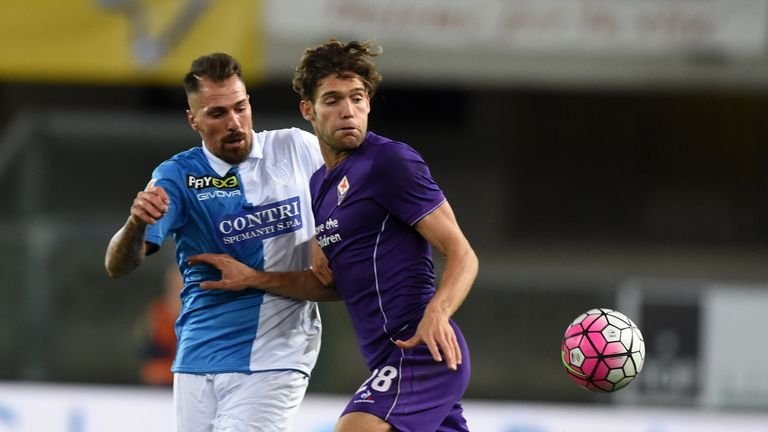 Chelsea are in advanced talks to sign Marcos Alonso (right) from Fiorentina