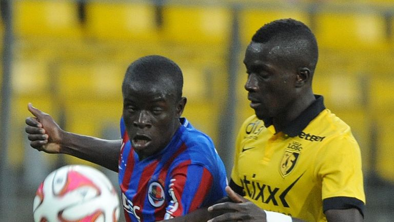 Kante and Gueye faced each other in France for Caen and Lille respectively