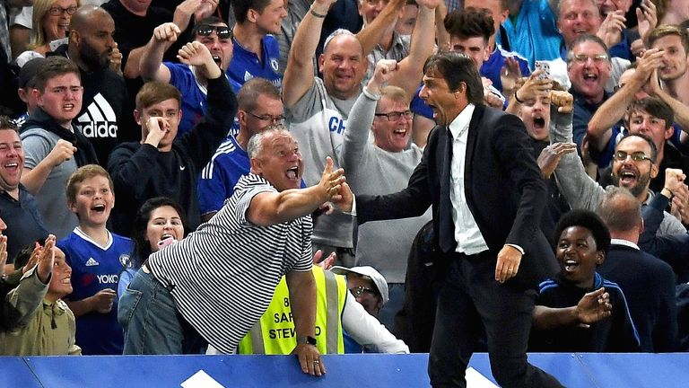 Image result for antonio conte chelsea celebration