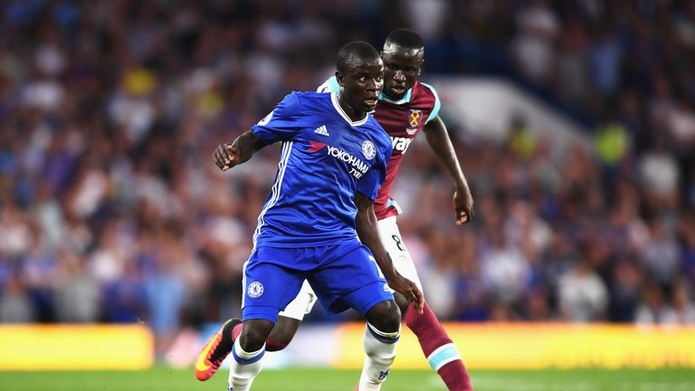 N'Golo Kante was booked early on against West Ham