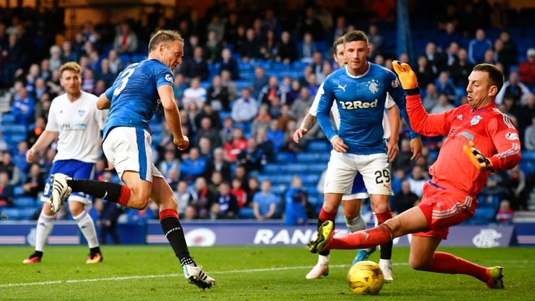 Clint Hill was also on target, netting twice for the Gers