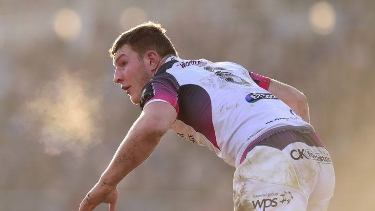 Sam Underhill in action for the Ospreys