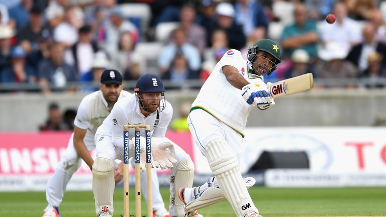 Sami Aslam, 20, is playing in just his third Test match