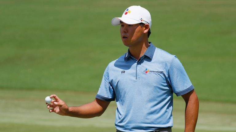 Si Woo Kim eased to a maiden PGA Tour title
