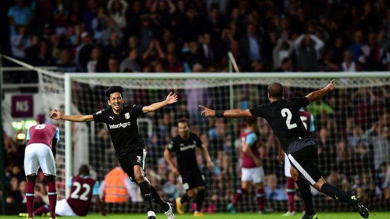Astra Giurgiu beat West Ham in the Europa League third-round qualifiers last season