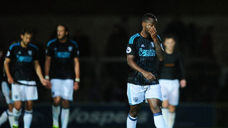 Saido Berahino was denied a late equaliser as West Brom lost to Torquay