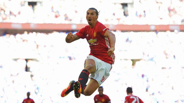 Ibrahimovic scored the winner in the Community Shield