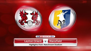 Leyton Orient 1-2 Mansfield