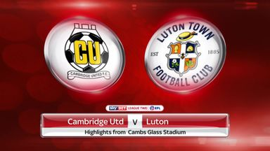 Cambridge 0-3 Luton