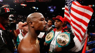 Floyd Mayweather Jr added five final names to his 49-fight unbeaten record