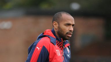 Thierry Henry reports for training with Belgium
