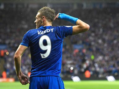 Jamie Vardy: Scored 24 goals as Leicester won the title