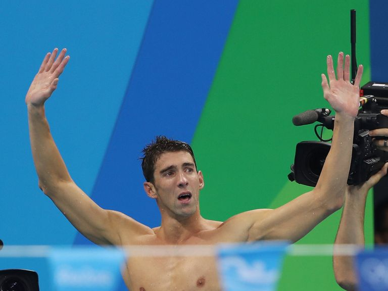 Phelps bags 23rd gold in last race | Athletics, Cycling ...