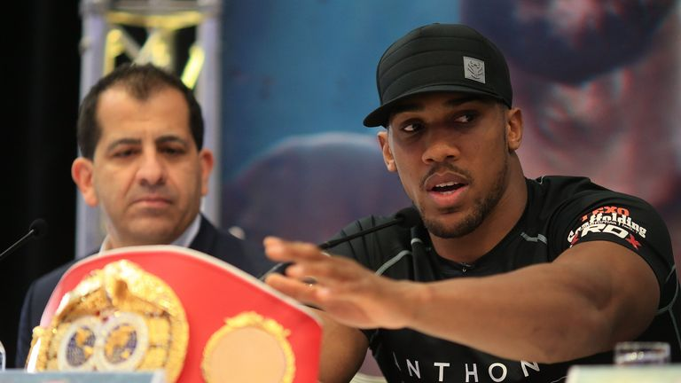 Joshua will defend his IBF belt and is waiting to discover if WBA title will be on the line