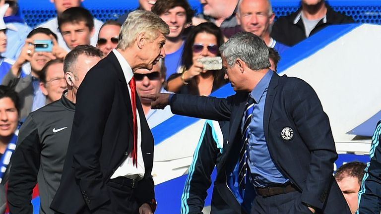 Wenger clashed with Mourinho at Stamford Bridge in October 2014