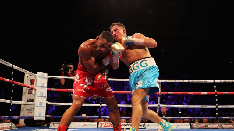 Golovkin came out on top in an enthralling bout with Kell Brook in September