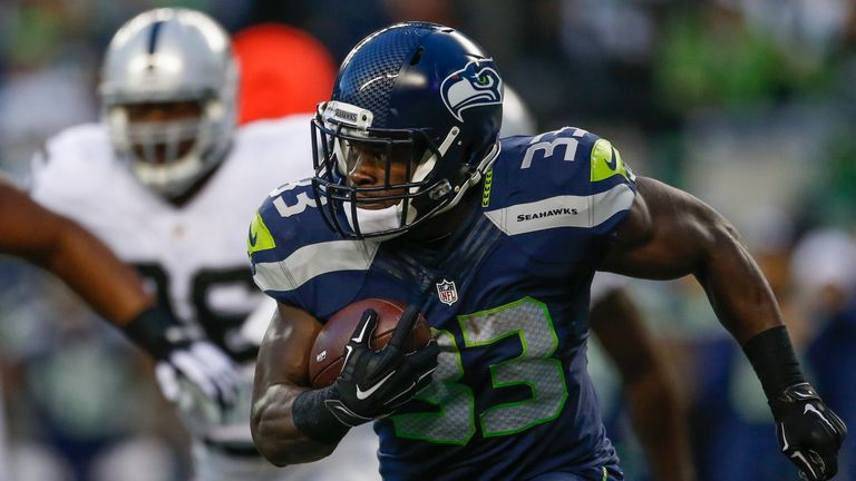Running back Christine Michael has impressed after Marshawn Lynch's retirement in the offseason.