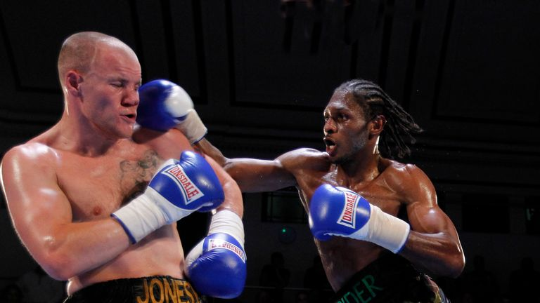Craig Richards pounces on Adam Jones at York Hall