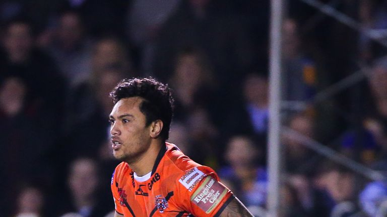 Denny Solomona in action while at the Castleford Tigers