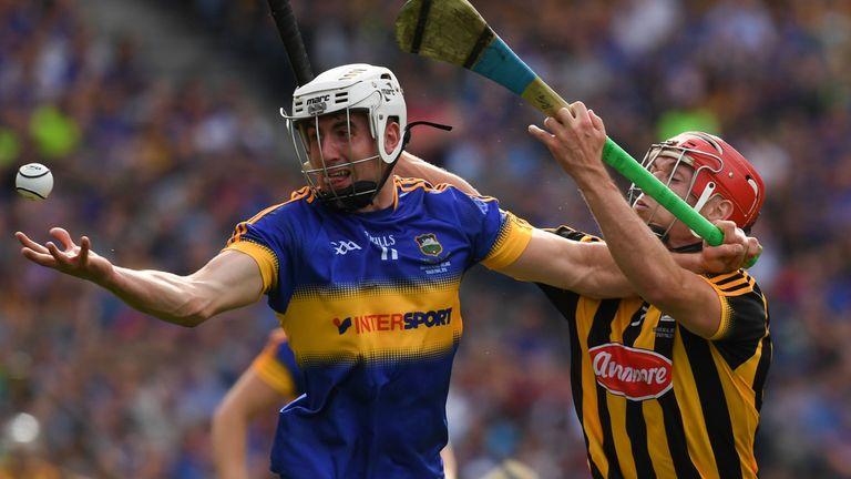 Patrick 'Bonner' Maher holds off Kilkenny's Shane Prendergast during last September's All-Ireland final