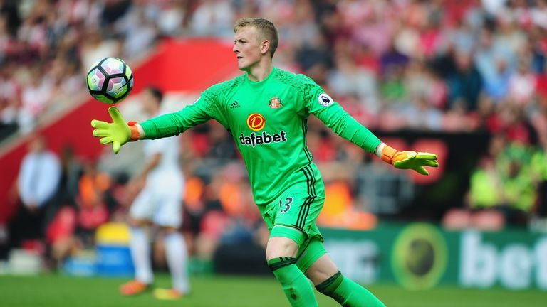 Jordan Pickford made eight saves against Tottenham