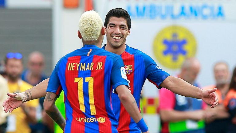 Neymar and Luis Suarez signed contract extensions this season