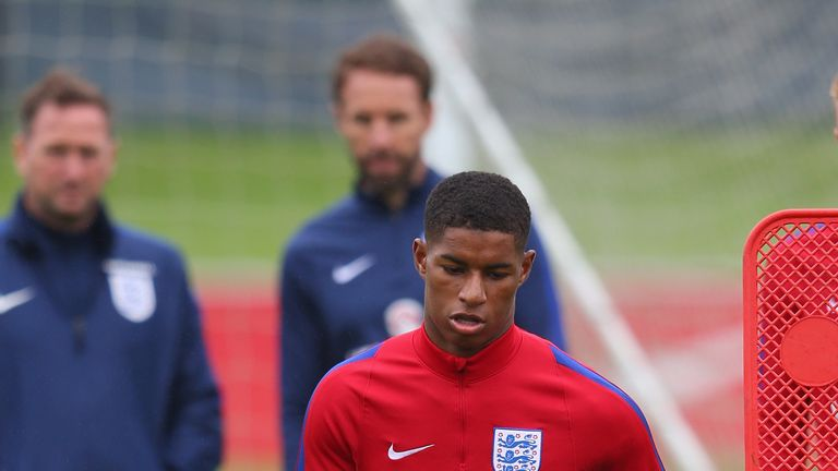 Gareth Southgate will assess Rashford before the Euros