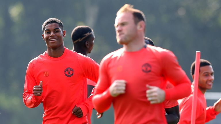 Marcus Rashford lifted the lid on his Manchester United rise