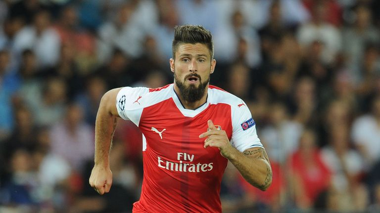 Olivier Giroud is joint-favourite to score first for Arsenal along with Lucas Perez