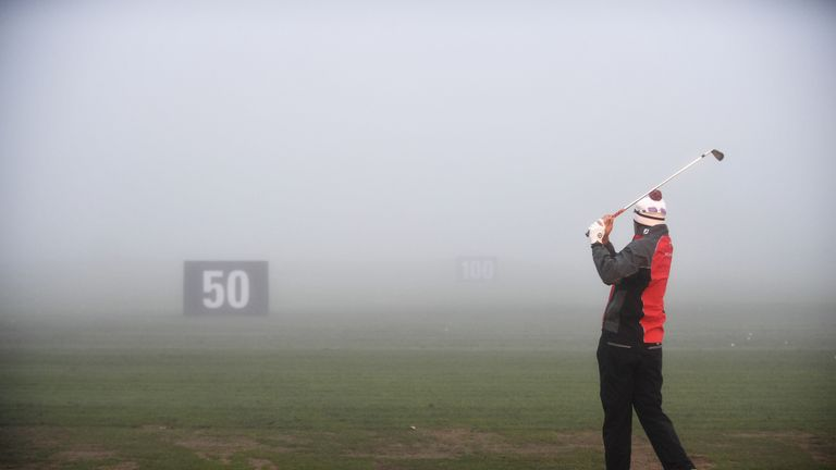 Fog saw the start of play delayed in Germany