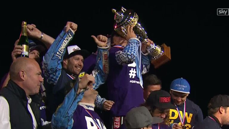 Poole Pirates won the Elite League title in 2015