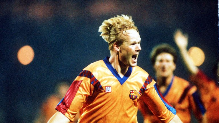 Ronald Koeman scored the winning goal for Barcelona in the 1992 European Cup Final against Sampdoria