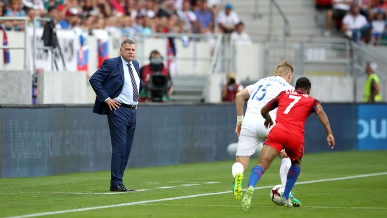 New England manager Sam Allardyce watches the action