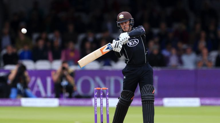 Roy, pictured in action for Surrey, wants T20 domestic cricket in England to follow in the footseps of the Big Bash and IPL