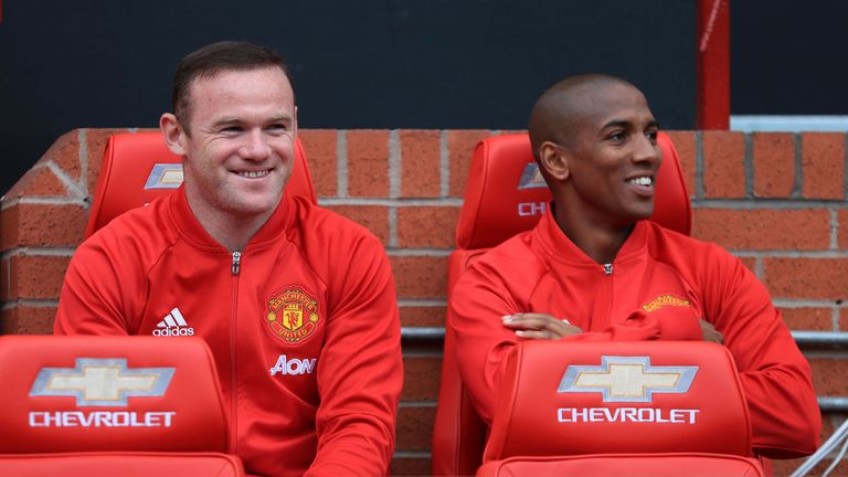 Rooney was on the Old Trafford bench for United's game against Leicester on Saturday