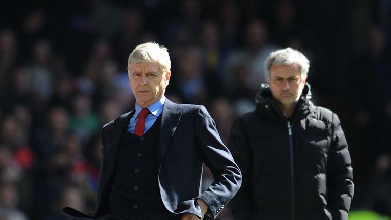 Image result for mourinho vs wenger