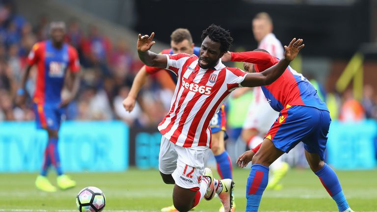 Wilfried Bony joined Stoke from Manchester City on loan