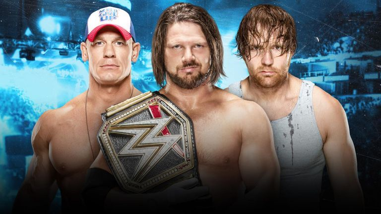 Wwe smackdown dean ambrose pins john cena will face aj styles who will be holding the wwe world title when cena styles and ambrose meet at m4hsunfo