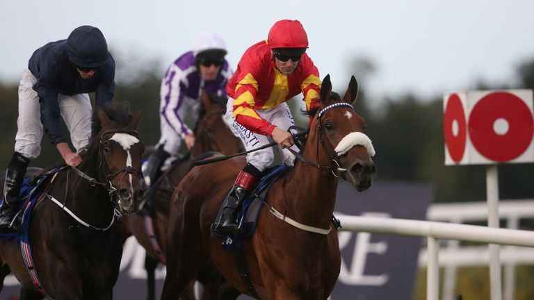 Zhukova and Pat Smullen get the better of US Army Ranger to win the Enterprise Stakes on Irish Champions Weekend.