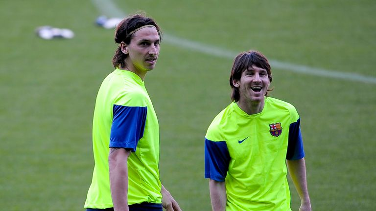 Ibrahimovic said Guardiola was building his team around Lionel Messi