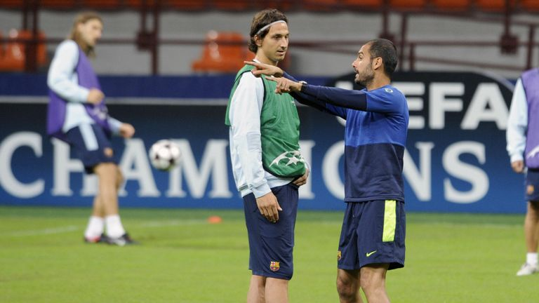 Guardiola signed Ibrahimovic for Barca from Inter Milan in exchange for Samuel Eto'o, plus a reported £59m
