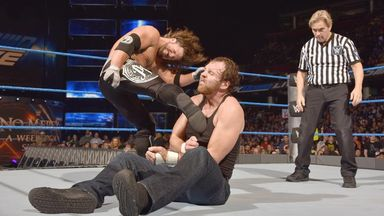 AJ Styles boots Dean Ambrose en route to retaining his title