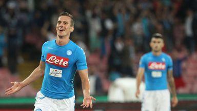 Polish forward Arkadiusz Milik fires Napoli to the top of Serie A