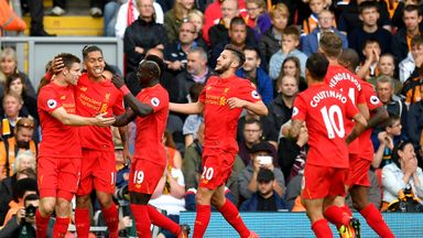 James Milner (left) bagged two penalties in Liverpool's 5-1 victory over Hull