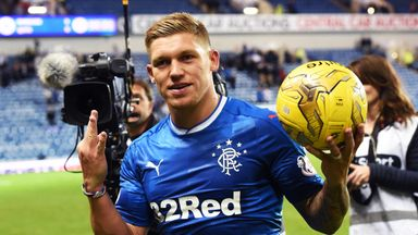 Martyn Waghorn went home with the match ball after Rangers routed Queen of the South