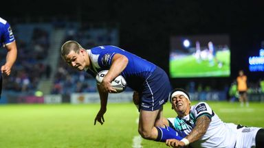 Jonathan Sexton scored a try on his Leinster return